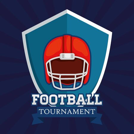 poster of american football tournament with helmet vector illustration design 일러스트
