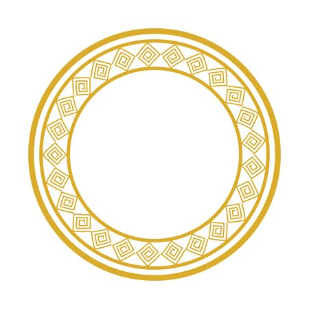 frame circular chinese isolated icon vector illustration design