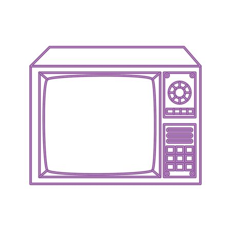 tv nineties retro style neon light isolated icon vector illustration design Ilustração
