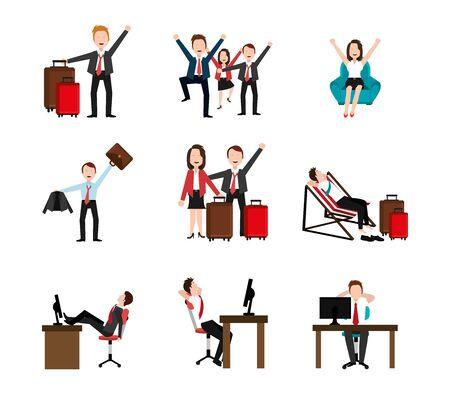 group of business people celebrating vector illustration design