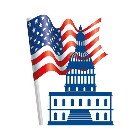 Usa capitol design, United states america independence presidents day nation us country and national theme Vector illustration  イラスト・ベクター素材