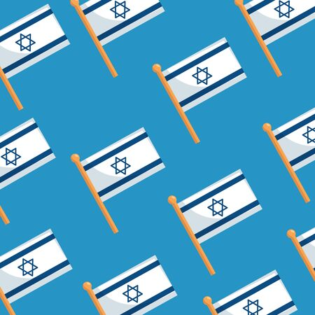 background of flags israel patriotic vector illustration design