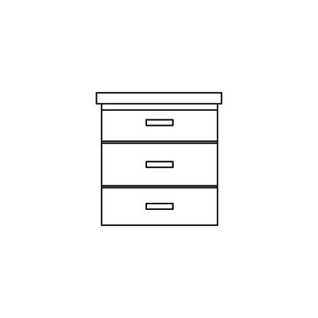 wooden drawer forniture isolated icon vector illustration design