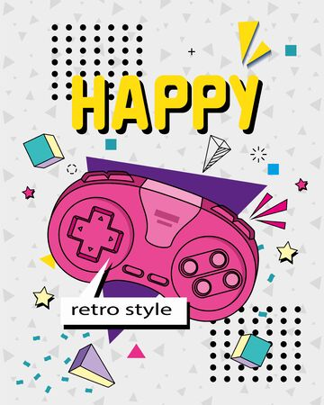 control game of nineties style isolated icon vector illustration design