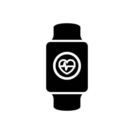 silhouette of smartwatch sport device isolated icon vector illustration design