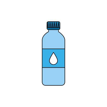 bottle water plastic isolated icon vector illustration design Ilustração