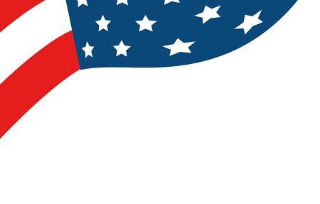 united states flag isolated icon vector illustration design Ilustração
