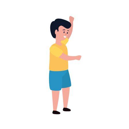 cute little boy avatar character vector illustration design Vector Illustration