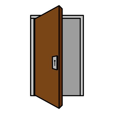 house door wooden isolated icon vector illustration design