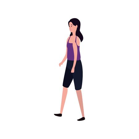 young and beautiful woman character vector illustration design Ilustração