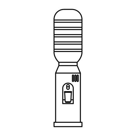 office water dispenser isolated icon vector illustration design Ilustração