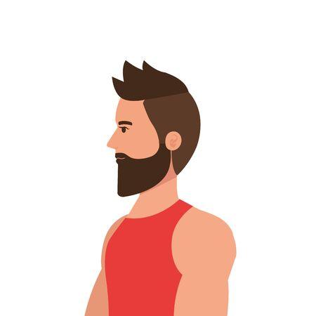young man athlete avatar character vector illustration design Foto de archivo - 139310090