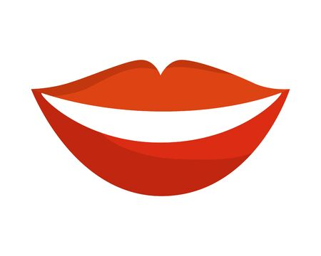 sensuality lips woman icon vector illustration design