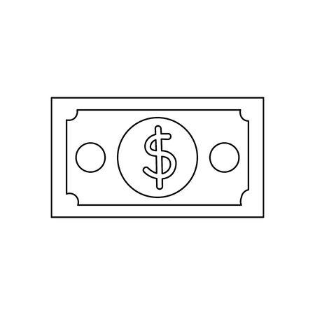 bill money dollar isolated icon vector illustration design 일러스트