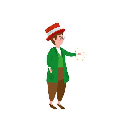man character fantasy magic icon vector illustration design