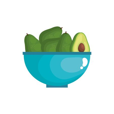 fresh and healthy avocado isolated icon vector illustration design