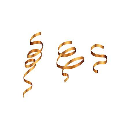 party confetti golden isolated icon vector illustration design