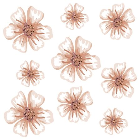 background of cute flowers naturals vector illustration design