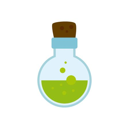 potion magic halloween isolated icon vector illustration design 向量圖像