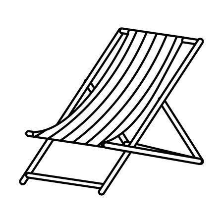 chair beach summer isolated icon vector illustration design