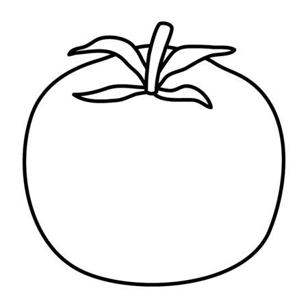 tomato fresh vegetable healthy icon vector illustration design Illustration