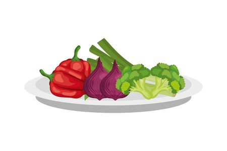 Légumes frais et sains icône isolé conception d'illustration vectorielle