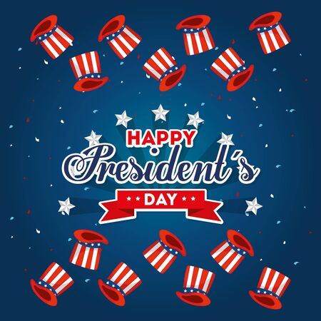 Hats design, Usa happy presidents day united states america independence nation us country and national theme Vector illustration
