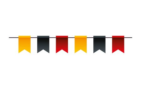 Banner pennant design, Flag event line sports decoration and winning theme Vector illustration