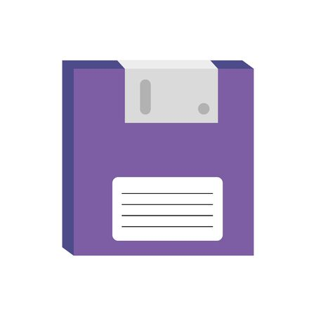 floppy disk nineties retro style isolated icon vector illustration design 向量圖像