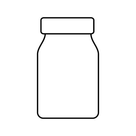 mason jar pot isolated icon vector illustration design