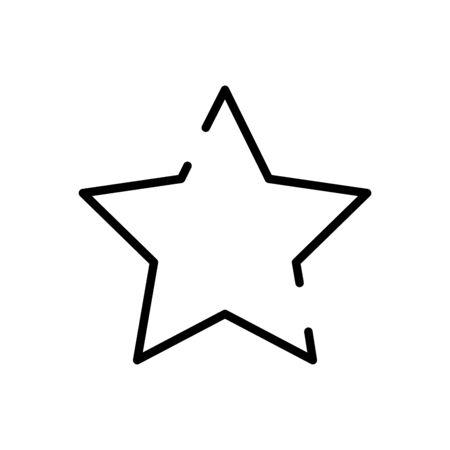 star luxury decoration line style icon vector illustration design
