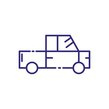 Pickup car vehicle design, Transportation travel trip urban motor speed fast automotive and driving theme Vector illustration Stockfoto - 139467920