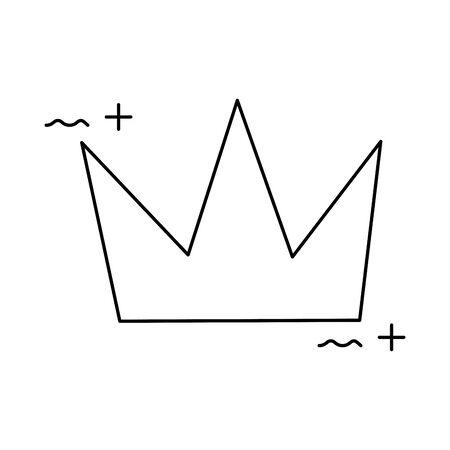cute crown royal isolated icon vector illustration design Ilustração
