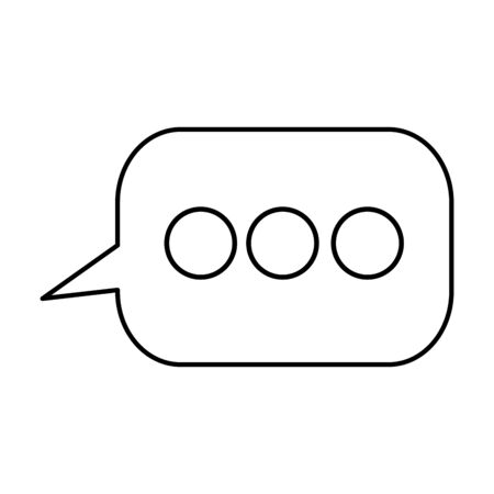 speech bubble communication isolated icon vector illustration design