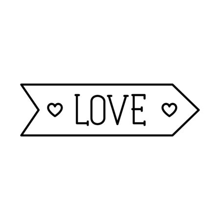 love label on white background vector illustration design