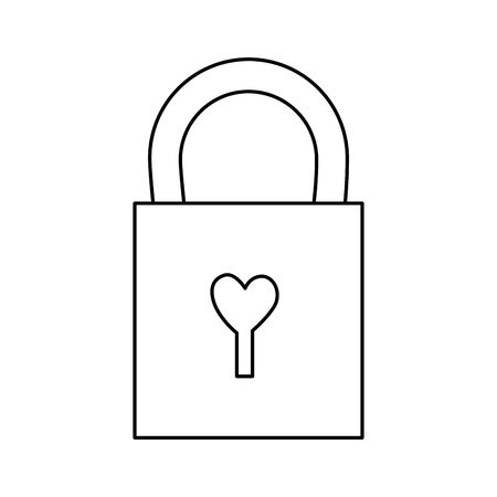 padlock with heart isolated icon vector illustration design