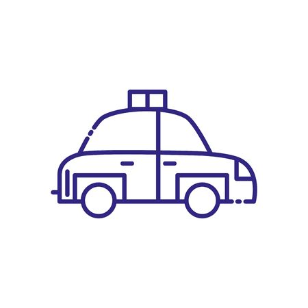 Taxi icon design, Car transport vehicle transportation cab travel urban city and street theme Vector illustration
