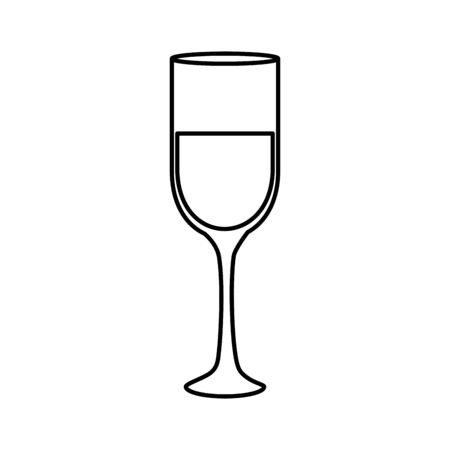 cup glass champagne isolated icon vector illustration design