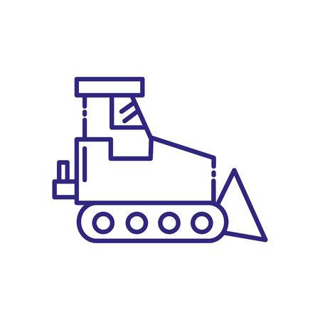 Wheel loader design of Construction working maintenance workshop repairing progress labor and industrial theme Vector illustration
