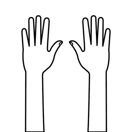 hands person human line style icon vector illustration design Illustration