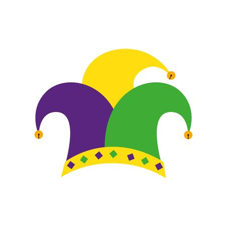 Mardi gras hat design, Party carnival decoration celebration festival holiday fun new orleans and traditional theme Vector illustration  イラスト・ベクター素材