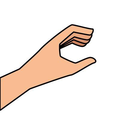 hand organ human isolated icon vector illustration design