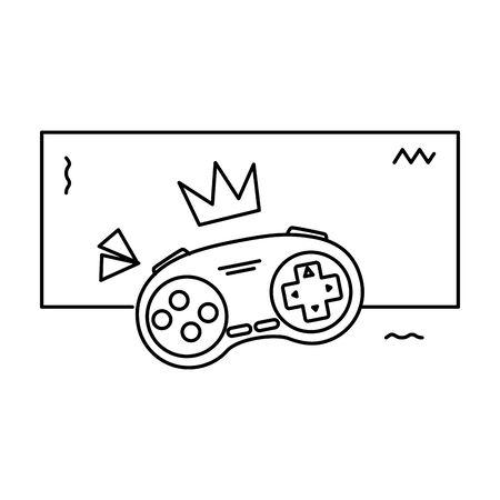 Jeu de contrôle style années 90 icône isolé conception d'illustration vectorielle