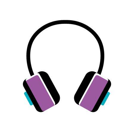 headset pop art style icon vector illustration design