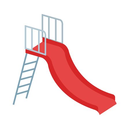 slide game recreation isolated icon vector illustration design