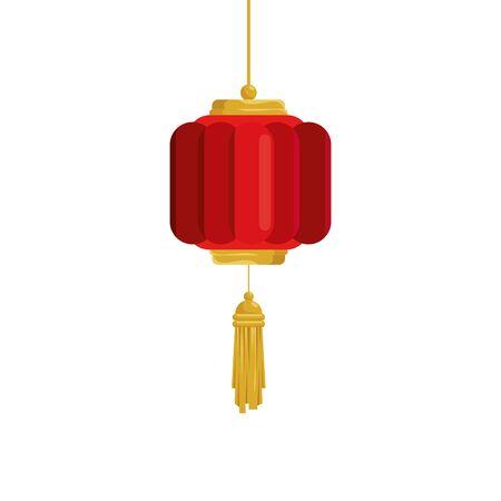 lantern chinese hanging isolated icon vector illustration design