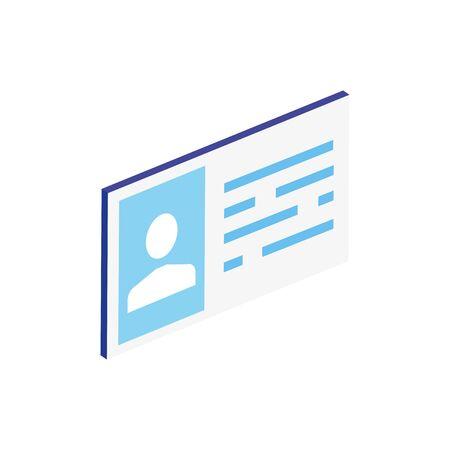 Isometric profile design, People social media communication person human and user theme Vector illustration Ilustração