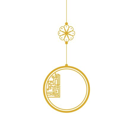 decoration chinese hanging isolated icon vector illustration design