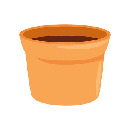 flower pot ceramic isolated icon vector illustration design