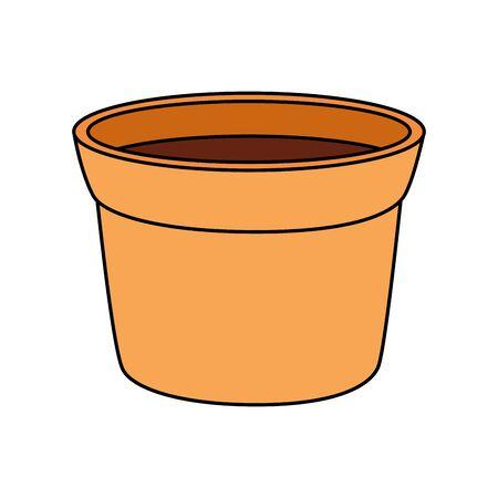 flower pot ceramic isolated icon vector illustration design